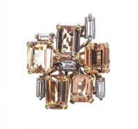 18CT GOLD DRESS RING SET WITH IMPERIAL TOPAZ AND DIAMOND at Ross's Jewellery Auctions