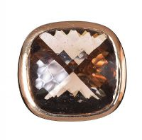 14CT GOLD SMOKEY QUARTZ RING at Ross's Jewellery Auctions
