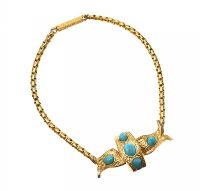 VICTORIAN 18CT GOLD TURQUOISE BRACELET at Ross's Auctions