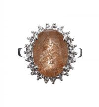 STERLING SILVER RING SET WITH RUTILE QUARTZ at Ross's Jewellery Auctions
