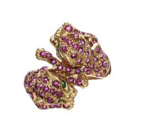 9CT GOLD EMERALD AND RUBY RING at Ross's Jewellery Auctions