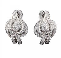 18CT WHITE GOLD DIAMOND EARRINGS at Ross's Jewellery Auctions