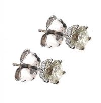 18CT WHITE GOLD DIAMOND STUD EARRINGS at Ross's Jewellery Auctions
