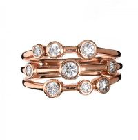 18CT ROSE GOLD DIAMOND RING IN THE STYLE OF BOODLES at Ross's Jewellery Auctions