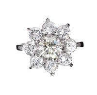 PLATINUM DIAMOND CLUSTER RING at Ross's Jewellery Auctions