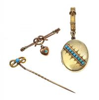 VICTORIAN GOLD TURQUOISE-SET JEWELLERY at Ross's Auctions