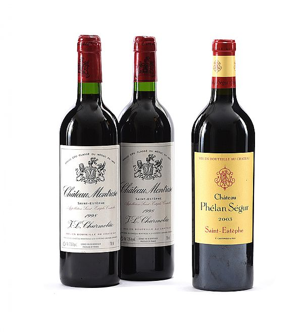 CHATEAU MONTROSE 1998 AND CHATEAU PHELAN SEGUR 2003 at Ross's Online Art Auctions