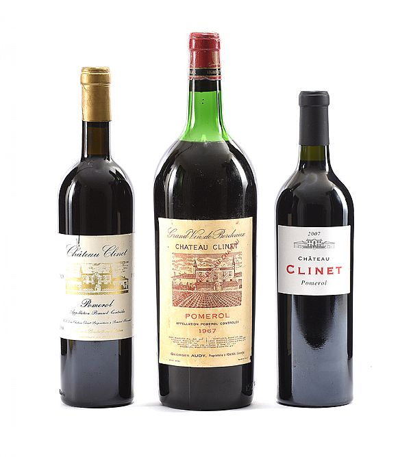 CHATEAU CLINET 1967, 1989 & 2007 at Ross's Online Art Auctions
