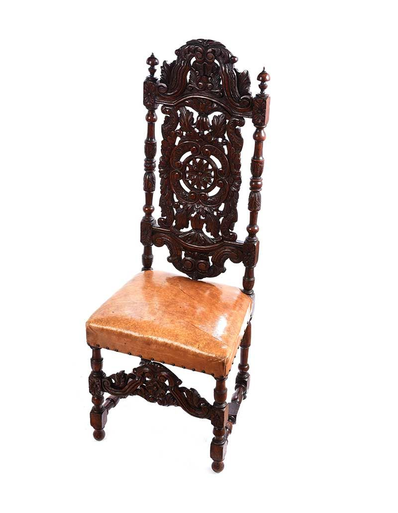 PAIR OF VICTORIAN CARVED OAK SIDE CHAIRS at Ross's Online Art Auctions