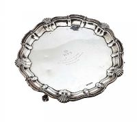 SILVER SALVER at Ross's Auctions