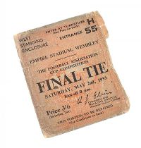 SIGNED FOOTBALL CUP FINAL TICKET at Ross's Auctions