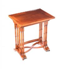INLAID NEST OF THREE TABLES at Ross's Auctions