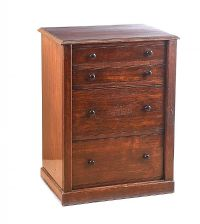 MAHOGANY WELLINGTON CHEST OF DRAWERS at Ross's Auctions