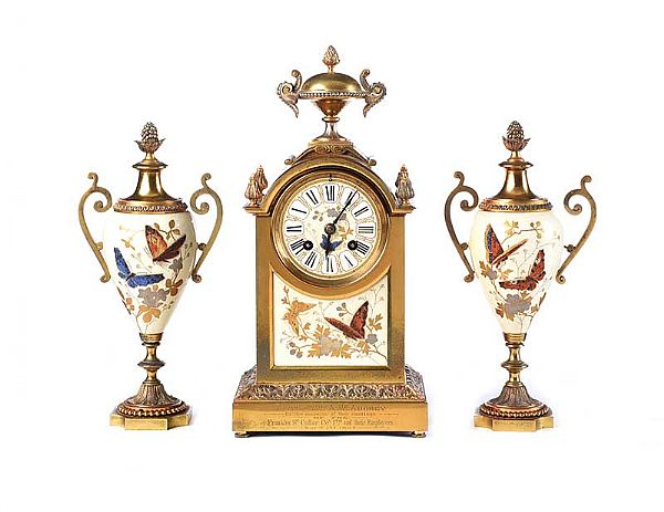 VICTORIAN CLOCK SET at Ross's Online Art Auctions