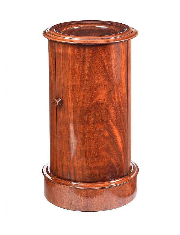 VICTORIAN CYLINDER POT CUPBOARD at Ross's Online Art Auctions