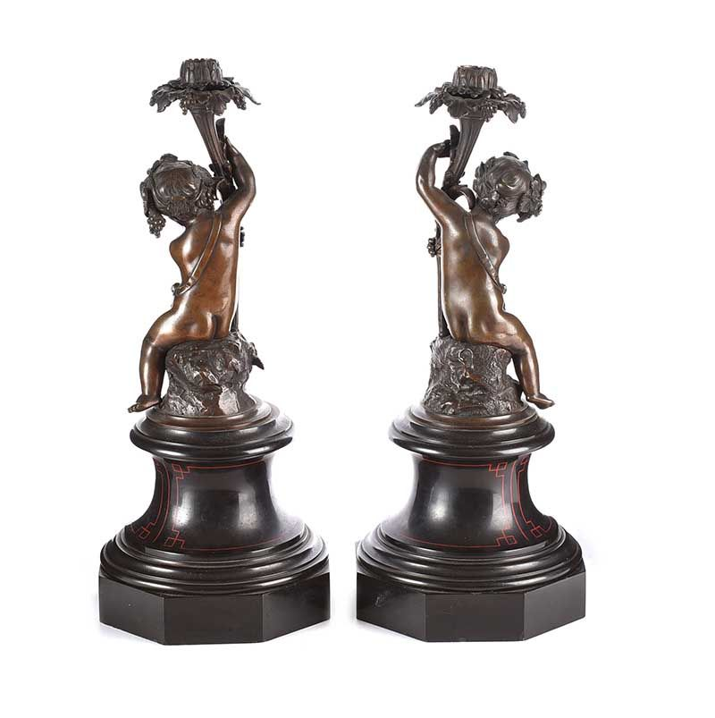 PAIR OF VICTORIAN FIGURE CANDLESTICKS at Ross's Online Art Auctions