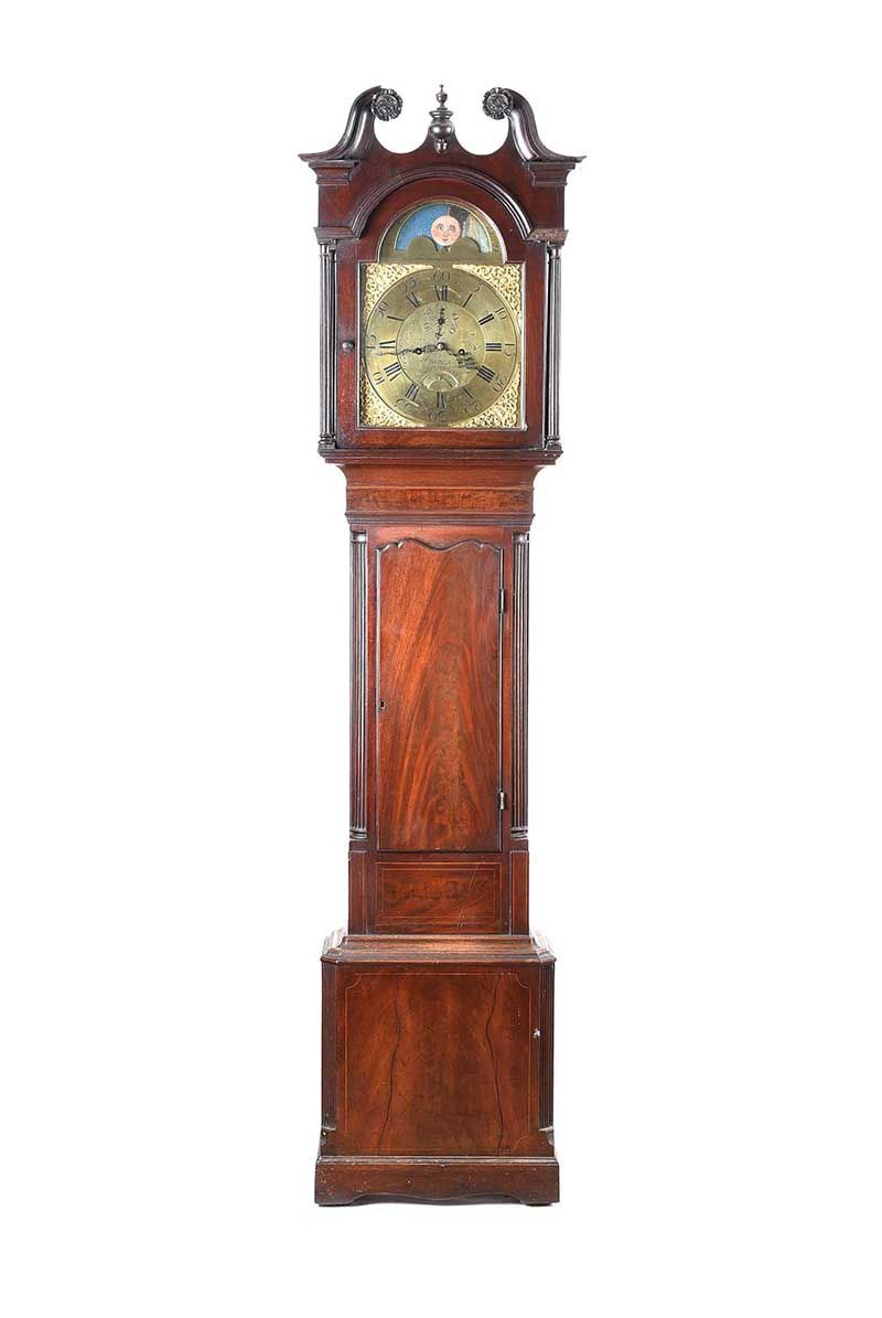 MAHOGANY LONGCASE CLOCK at Ross's Online Art Auctions