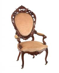 VICTORIAN MAHOGANY ARMCHAIR at Ross's Online Art Auctions