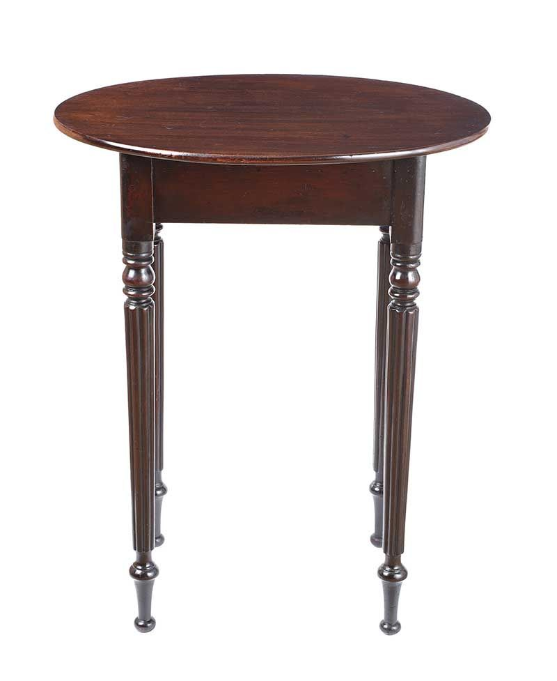 GEORGIAN MAHOGANY LAMP TABLE at Ross's Online Art Auctions
