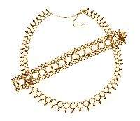 TIFFANY & CO 18CT GOLD NECKLACE AND BRACELET SUITE at Ross's Jewellery Auctions