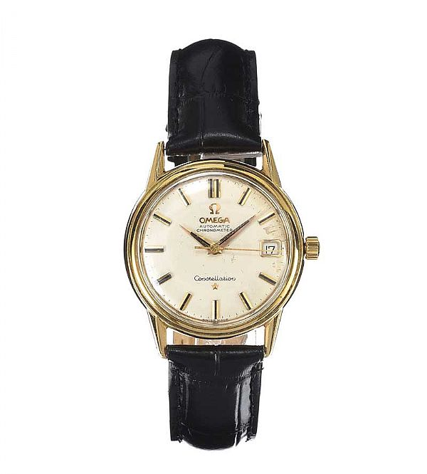 OMEGA 'CONSTELLATION' 18CT GOLD-CASED GENT'S WRIST WATCH at Ross's Online Art Auctions