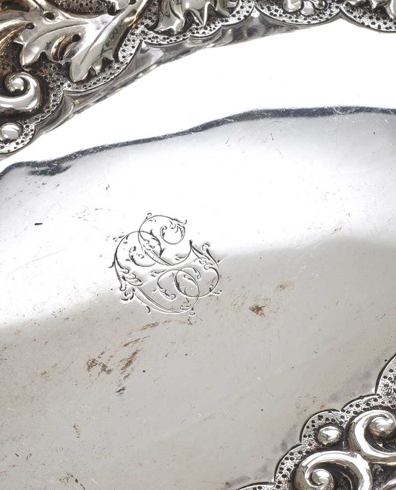 VICTORIAN STERLING SILVER DISH at Ross's Online Art Auctions