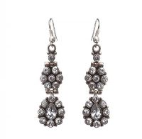 STERLING SILVER QUARTZ CHANDELIER EARRINGS at Ross's Jewellery Auctions
