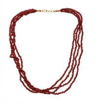 CORAL MULTI-STRING NECKLACE at Ross's Jewellery Auctions