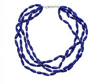 SILVER LAPUS LAZULI NECKLACE at Ross's Jewellery Auctions