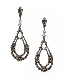 STERLING SILVER MARCASITE DROP EARRINGS at Ross's Jewellery Auctions