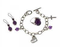 ASSORTMENT OF SILVER AND AMETHYST JEWELLERY at Ross's Jewellery Auctions