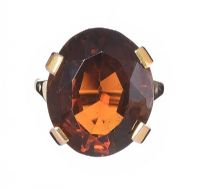 9CT GOLD SMOKEY QUARTZ RING at Ross's Jewellery Auctions