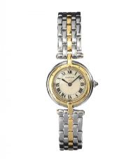CARTIER STAINLESS STEEL AND 18CT GOLD LADY'S WRIST WATCH at Ross's Auctions