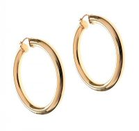 9CT GOLD LARGE HOOP EARRINGS at Ross's Auctions