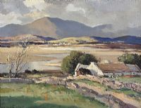 ABOVE DUNFANAGHY, DONEGAL by Maurice Canning  Wilks ARHA RUA at Ross's Auctions