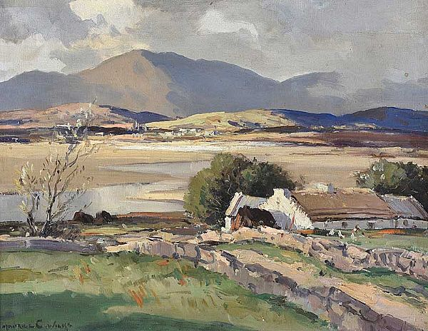 ABOVE DUNFANAGHY, DONEGAL by Maurice Canning  Wilks ARHA RUA at Ross's Online Art Auctions