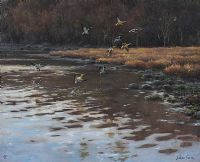 MALLARDS OVER WATER by Julian Friers RUA at Ross's Auctions