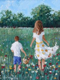 COLLECTING POPPIES by Lorna Millar at Ross's Auctions