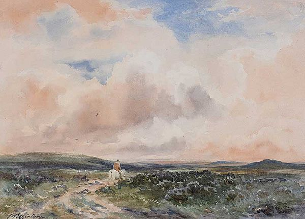 A MOORLAND TRACK by Wycliffe Egginton RI RCA at Ross's Online Art Auctions
