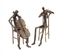 TWO SEATED MUSICIANS by Irish School at Ross's Auctions