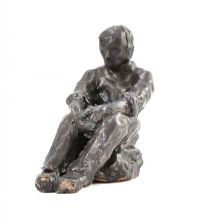 SEATED BOY, CONTEMPLATING by Hilary Bryson at Ross's Auctions