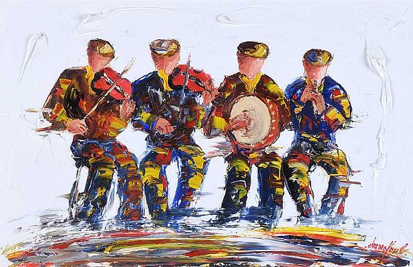 THE SESSION, MUSICAL QUARTET by Darren Paul at Ross's Online Art Auctions