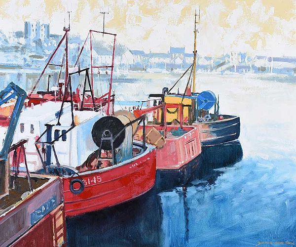 ARDGLASS HARBOUR by Dennis Orme Shaw at Ross's Online Art Auctions
