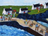 LANDING THE CATCH ON GREAT BLASKET ISLAND, KERRY by Orla Egan at Ross's Auctions