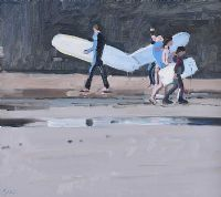 UP AGAINST THE CLIFFS, BALLYBUNION by John Morris at Ross's Auctions