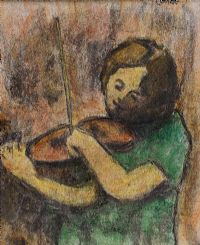 SHE FIDDLED A TUNE by William Conor RHA RUA at Ross's Auctions