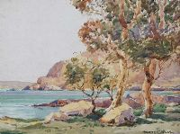 TREES ON THE ANTRIM COAST by Maurice Canning  Wilks ARHA RUA at Ross's Auctions