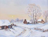 WINTER LANDSCAPE, COUNTY ANTRIM by Owen McCready at Ross's Auctions