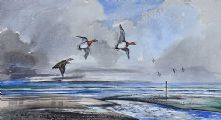 WIGEON OVER BELFAST LOUGH by Robert W. Milliken at Ross's Auctions
