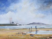 THE FAMILY ON SANDYMOUNT STRAND, DUBLIN by Darren Paul at Ross's Auctions